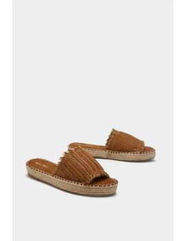 Woven Espadrille Sliders by Nasty Gal
