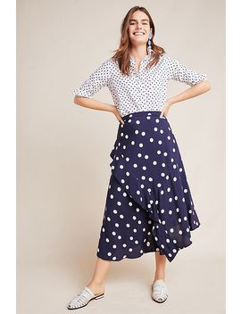 Olivia Ruffled Midi Skirt by Maeve