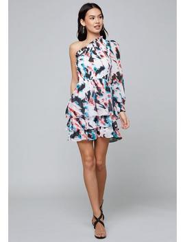 Lina Tiered Ruffle Dress by Bebe