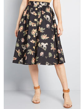 She's All Tiki Midi Skirt by Hell Bunny