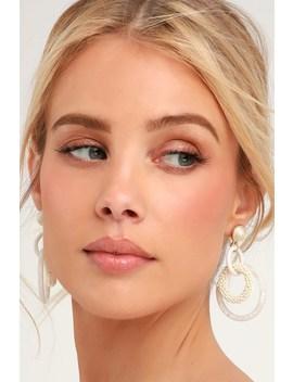 Mishka Ivory Circle Earrings by Lulus