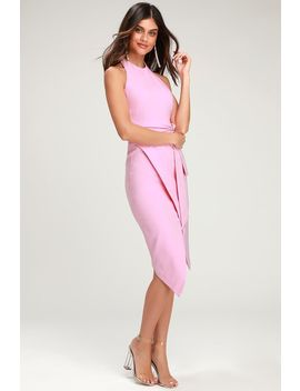 Essie Mauve Pink Tie Front Halter Dress by Finders Keepers
