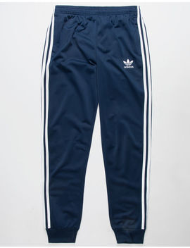 Adidas Superstar Navy Boys Track Pants by Adidas