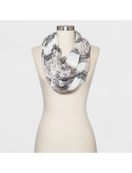 Collection Xiix Women's Floral Print Loop Scarf   Neutral by Neutral