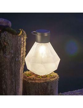 Solar Gem Cut Glass Lantern – Milk by West Elm