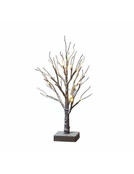 Hairui Tabletop Easter Tree Lights Snow Dusted 24 Led 18in Small Pre Lit Tree Battery Powered For Christmas Home Decoration Indoor Use by Hairui
