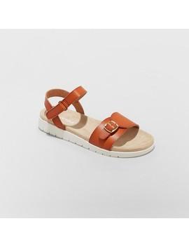Girls' Armine Comfort Footbed Ankle Strap Sandals   Cat & Jack by Cat & Jack