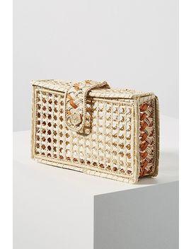 Monteria Woven Box Clutch by Kaanas