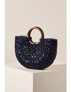 Beaded Basket Tote Bag by Anthropologie