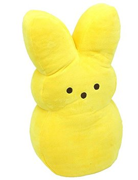 "Peeps Bunny 17"" Bright Yellow Plush by Peeps"