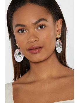 Pretty As A Picture Floral Drop Earrings by Nasty Gal