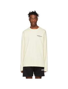 Off White Logo Long Sleeve T Shirt by Essentials