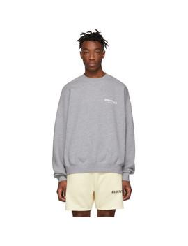 Grey Pullover Crewneck Sweatshirt by Essentials