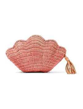 Jane Woven Straw Clutch by Kayu