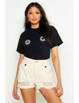 Tall Sun And Moon Horoscope Placement T Shirt by Boohoo