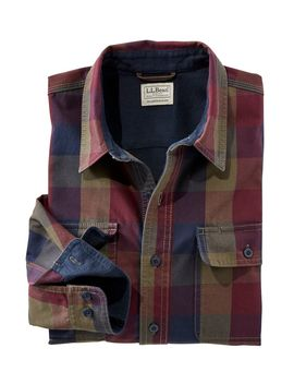 Lined Hurricane Shirt, Traditional Fit Plaid by L.L.Bean