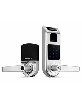 Keyless Entry Door Lock, Ardwolf A10 Fingerprint Touchscreen Smart Door Lock With Visual Menu Display Perfect For Home, Office, Only For Indoor Use by Ardwolf
