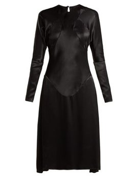 Panelled Long Sleeved Satin Dress by Vivienne Westwood Anglomania