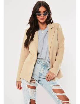 Nude Boyfriend Blazer by Missguided