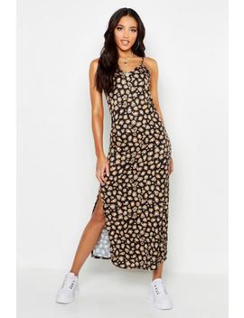 Woven Leopard Maxi Slip Dress by Boohoo