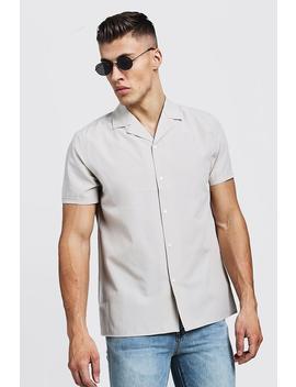 Revere Collar Short Sleeve Shirt by Boohoo