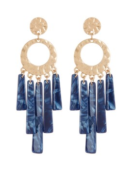 Acetate Bar Drop Earrings by Black Diamond Accessories