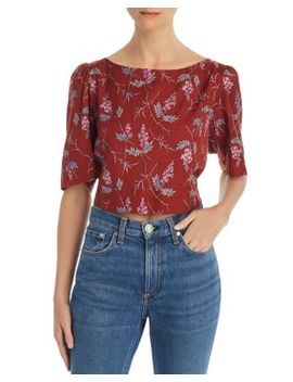 Ivie Floral Print Knot Back Top by Rebecca Taylor
