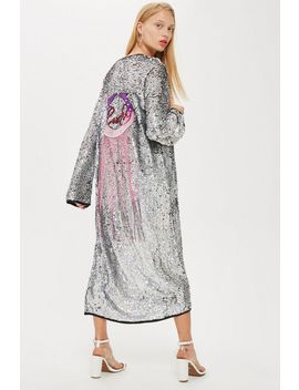 Sequin Lucky Fringe Cape by Topshop