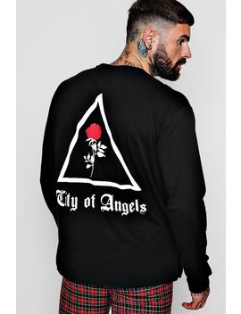 Loose Fit City Of Angles Long Sleeve T Shirt by Boohoo