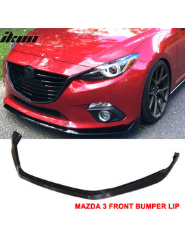 Fits 14 16 Mazda 3 4 Dr/5 Dr Front Bumper Lip Spoiler   Abs by Ikonmotorsports