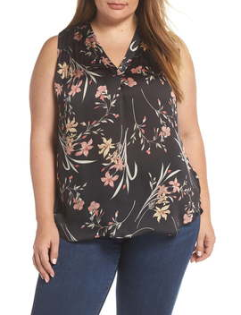 Floral Soiree Sleeveless Top by Vince Camuto