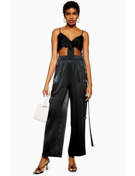 Satin Combat Trousers By We Own The Night by Topshop