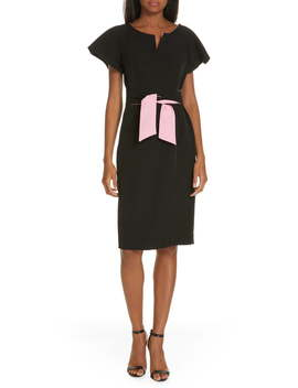 Tina Italian Cady Belted Dress by Milly