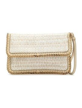 Chain Trimmed Coated Woven Clutch by Stella Mc Cartney