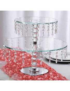 """Balsa Circle Clear 16"""" Tall Crystal Glass Round Cake Stand Riser   Home Party Wedding Decorations Gifts by Balsa Circle"""