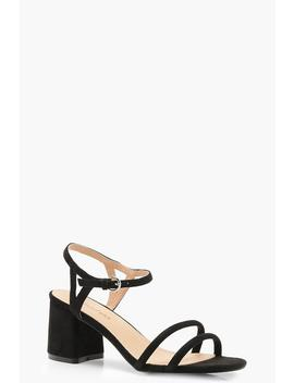 Extra Wide Fit Double Strap 2 Part Heels by Boohoo
