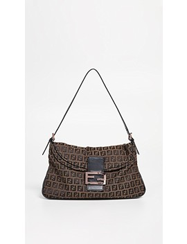 Fendi Brown Zucchino Mamma Bag by What Goes Around Comes Around