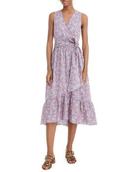 Liberty® Kayoko Floral Sleeveless Faux Wrap Dress by J.Crew