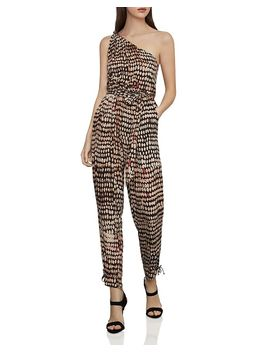 Tie Detail One Shoulder Jumpsuit by Bcbgmaxazria