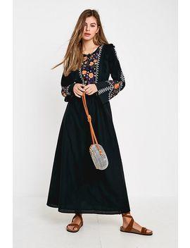 Violet Skye Embroidered Black Maxi Dress by Violet Skye