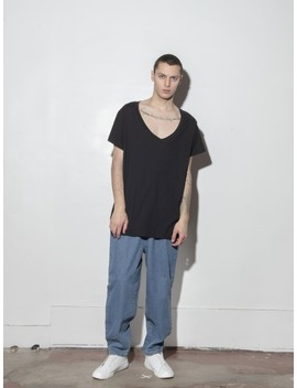 Oversize V Tee   Black by Oak
