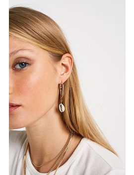 Shell Hoop Earrings by Urban Outfitters