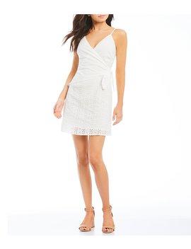 Eyelet Wrap Dress by Gb