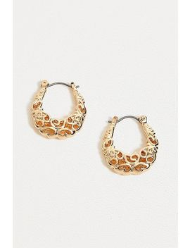 Filagree Textured Hoop Earrings by Urban Outfitters