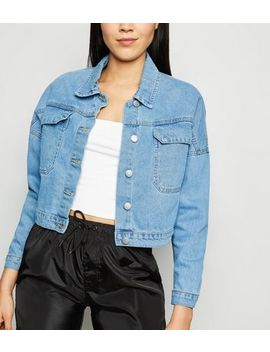 Cameo Rose Bright Blue Denim Jacket by New Look