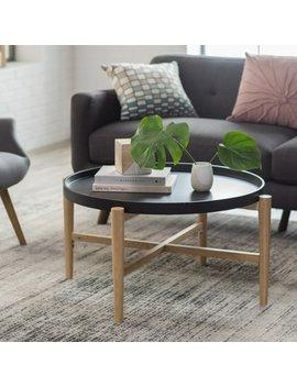 Belham Living Lincoln 2 Tone Tray Top Coffee Table   Black by Belham Living