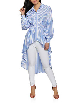Striped High Low Shirt by Rainbow