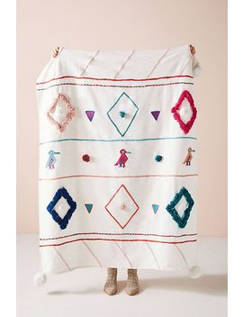 Textured Varenya Throw Blanket by Anthropologie