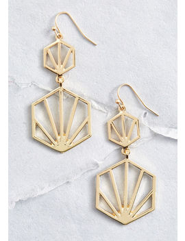 Deco Reflections Earrings by Modcloth