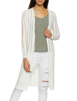 Laser Cut Long Sleeve Duster by Rainbow